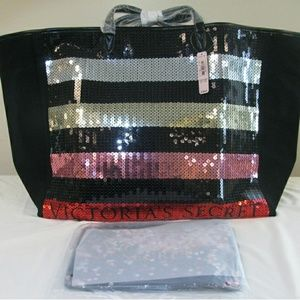 NWT Victoria's Secret Bling Sequin Tote & Wristlet